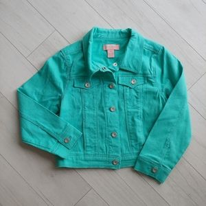 Squeeze Teal soft denim jacket